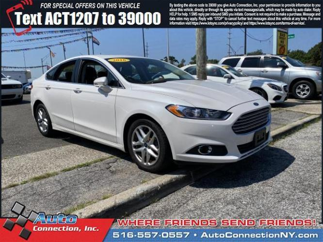 2016 Oxford White /Charcoal Black Ford Fusion 4dr Sdn SE FWD (3FA6P0HD0GR) , Automatic transmission, located at 2860 Sunrise Hwy, Bellmore, NY, 11710, (516) 557-0557, 40.669529, -73.522118 - Photo #0