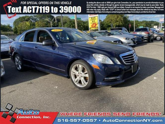 2013 Lunar Blue Metallic /Almond/Mocha Mercedes-Benz E-Class E350 4MATIC Luxury Sedan (WDDHF8JB3DA) , Automatic transmission, located at 2860 Sunrise Hwy, Bellmore, NY, 11710, (516) 557-0557, 40.669529, -73.522118 - Photo #0