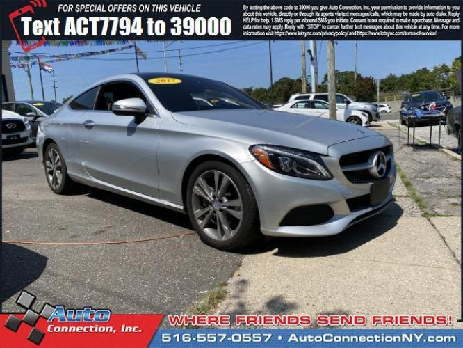2017 Diamond Silver Metallic /Black Mercedes-Benz C-Class C 300 4MATIC Coupe (WDDWJ4KB0HF) , Automatic transmission, located at 2860 Sunrise Hwy, Bellmore, NY, 11710, (516) 557-0557, 40.669529, -73.522118 - Photo #0